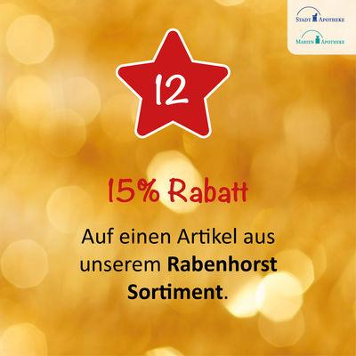 Am 12.12. erhalten Sie 15% Rabatt auf einen Artikel aus unserem Rabenhorst Sortiment*.