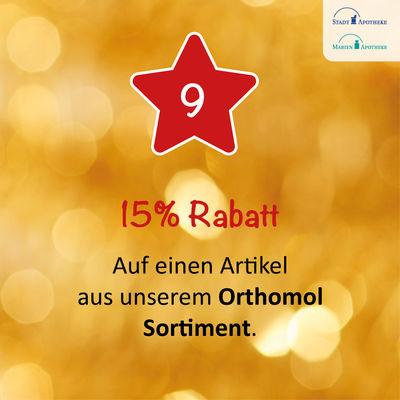 Am 09.12. erhalten Sie 15% Rabatt auf einen Artikel aus unserem Orthomol Sortiment*!