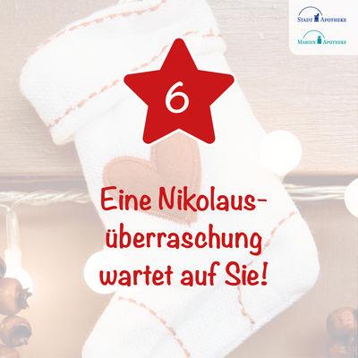 Am 6. Dezember wartet eine Nikolausüberraschung auf Sie*!